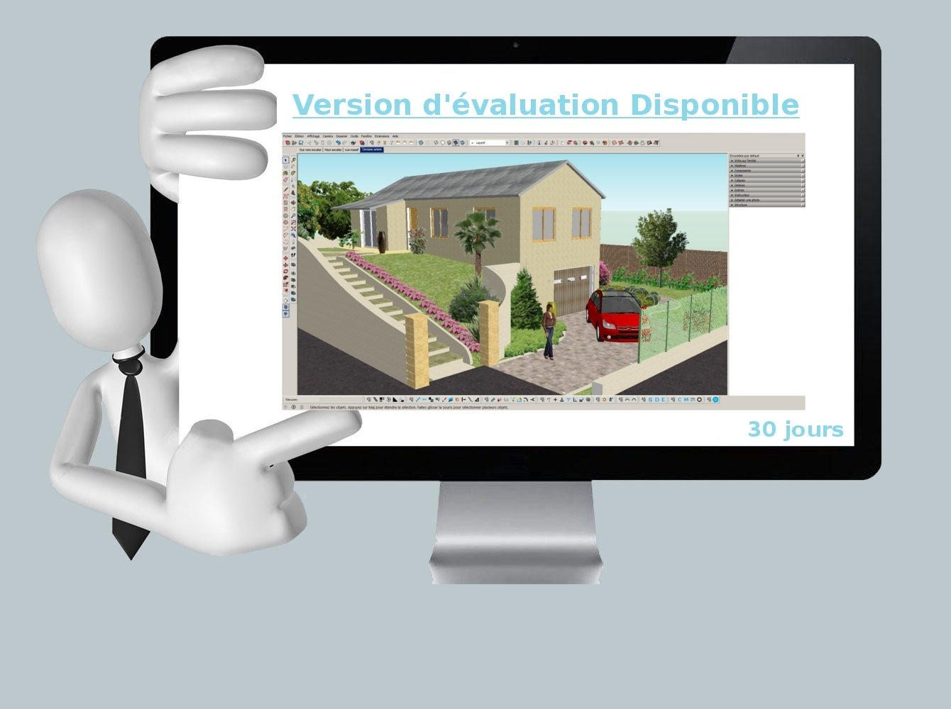 Version d'évaluation de notre solution ati3d